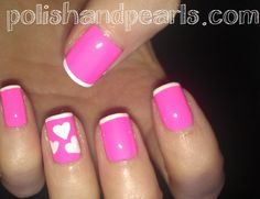 Simple, Easy, Cute Valentine Nails