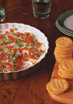 PHILLY Cheesy Pizza Dip – It almost doesn't matter how you stack 'em up. If you're using pizza ingredients, everyone digs in. This saucy, cheesy dip with fresh peppers proves the point.