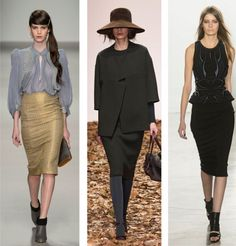 La jupe crayon, tendance automne/hiver 2015-2016
