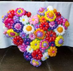 flower balloons - in heart formation