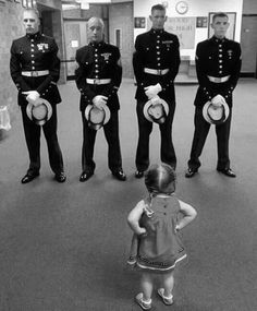 Little girl with Marines