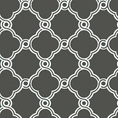 Trellis Wallpaper in Charcoal