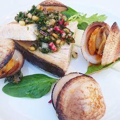 Bon anniversaire Christophe ! #menubistromique #espadon #saucevierge #amande #xipister #coquillage #seafood #Food #Foodista #PornFood #Cuisine #Yummy #Cooking