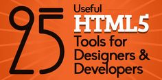 25 Useful HTML5 Tools For Designers & Developers | Resources | Graphic Design Junction