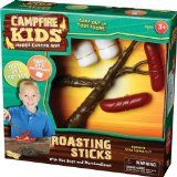 Camping theme pretend play props- roast marshmallows and hot dogs!