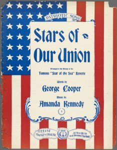 Stars of Our Union vintage sheet music  U.S. Flag