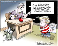 Cartoon by Paul Fell - Donald's Report Card