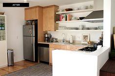 making this : wraparound kitchen shelving