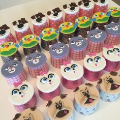 The secret life of pets cupcakes                                                                                                                                                                                 More