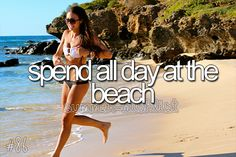 Summer #BucketList // to spend all day at the beach