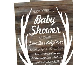 Baby Boy Shower Invitation Coed Baby Shower by DaintyPress on Etsy