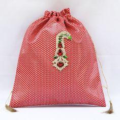 Red Zari Potli Wd Kalgi Broach (Click To Buy | Only Rs 500)