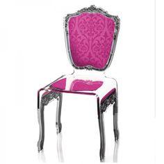 cette chaise baroque rose est disponible dans de nombreuses couleurs respecter l'harmonie de votre salle à manger !