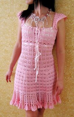 See pattern and diagram for this very pretty crochet dress….