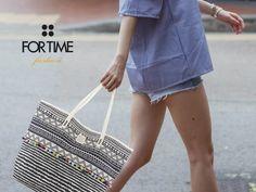 Maxi shopping estampado con borlas de FOR TIME