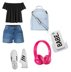 """""""my look"""" by prachi13 ❤ liked on Polyvore featuring LE3NO, adidas and Dorothy Perkins"""