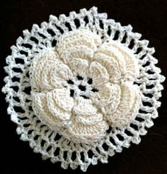 Best Free Crochet » Irish Rose Motif – Free Crochet Pattern.. A great flower motif to connect together for beautiful jewelry!!