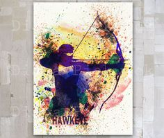 Hawkeye A3 Marvel Comic poster Hawkeye Avenger Watercolor Digital poster The Avengers poster download Wall Art Home Decor GD-21 by GOLDIDI on Etsy https://www.etsy.com/listing/210344860/hawkeye-a3-marvel-comic-poster-hawkeye