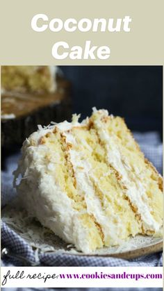 Delicious Cake Recipes, Yummy Cakes, Sweet Recipes, Dessert Recipes, Yummy Food, Irish Recipes, Coconut Recipes, Baking Recipes, Recipe For Coconut Cake