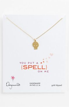 Dogeared 'You Put a Spell on Me' Skull Pendant Necklace available at Nordstrom