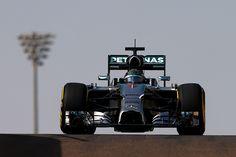 Nico Rosberg of Germany and Mercedes GP drives during day one of Formula One testing at Yas Marina Circuit on November 25, 2014 in Abu Dhabi, United Arab Emirates.