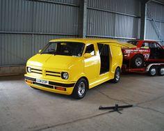 Bedford CF van with mid-mounted V8 engine.: