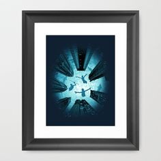 Water World Framed Art Print by moncheng - $34.00