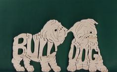 Bull Dog Pet Puppies Wood Puzzle by DukesScrollSaw on Etsy, $7.00