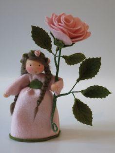 Sommer - Rosa Rose ** Blumenkind **Jahreszeitentisch - ein Designerstück von Katjas-Puppenstuebchen bei DaWanda