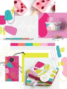 Color Crush Abstract Patterns by Youandigraphics on @creativemarket