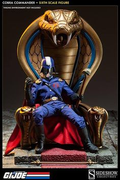 Cobra Commander, the Dictator, is dedicated to global domination, posing a daily threat to the GI JOE Team and the world.Sideshow Collectibles presents Cobra Co He Man Desenho, Cobra Art, Cobra Commander, Gi Joe Cobra, Sideshow Collectibles, Comic Books Art, Cool Toys, Nostalgia, Action Figures