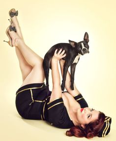 Piinup with boston terrier  www.youcanbrand.com
