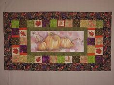 """'Marcie's Runner' - Painted center by LA Design. Order yours today! Stunning, larger size table runner:       29 """" x  57"""""""
