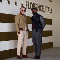 """BORN IN USA AT PITTI UOMO IN FLORENCE ITALY: Ouigi & @alessandrosquarzi Jessup Dean. See you on the road. #vsco #roadtofreedomhall #roadtoliberty…"""