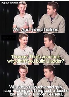 Gally (Will Poulter) and Newt (Thomas Brodie Sangster)