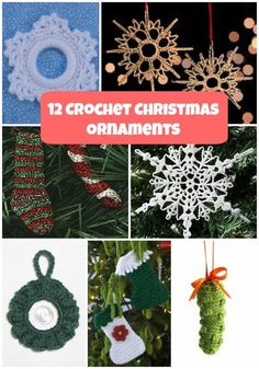 http://www.allfreechristmascrafts.com/Crochet-Christmas-Ornament-Patterns/Crochet-Christmas-Ornaments