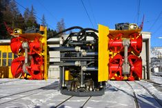 Landscaping Equipment, Work Train, Rail Transport, Abandoned Train, Swiss Railways, Snow Plow, Locomotive, Locks, Yards