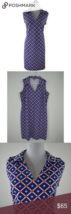 4e941db74 Katherine Way Geranium Diamond Gator UF Dress L This is a beautiful  collared sleeveless Geranium dress