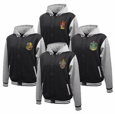 Hogwarts House Fully Custom Quidditch Varsity Jacket Hoodie. I want a Grifindor or Ravenclaw!!!!