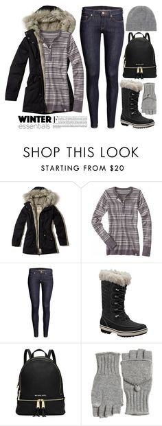 """""""~ s n o w ~ 2693"""" by boxthoughts ❤ liked on Polyvore featuring Hollister Co., Title Nine, H&M, Helly Hansen, Calypso St. Barth and Jardin des Orangers"""