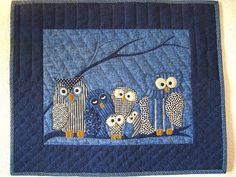 OWL WALL QUILT by pearlsquiltedcrafts