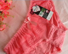 lace cotton ladies cotton briefs panties underwear hot Pink FREE SHIPPING!!! #Unbranded #BriefsHiCuts