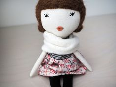 Petite rag doll, handmade, one of a kind/ Colette