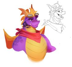 Male Furry, Furry Art, Spyro The Dragon Game, Video Game Art, Video Games, Spyro And Cynder, Donkey Kong Country, Dragon Warrior, Train Art