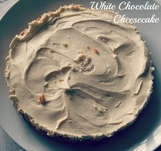 OK, before I go any further, I'll warn you that this is really good, easy to make, and you'll want to eat loads of it! It's a recipe from my aunt, and I am totally loving it! It's a white chocolate cheesecake, and given that chocolate and cheesecake are two of my family's very favourite things,