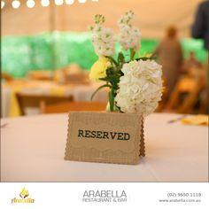 make your reservations at Arabella