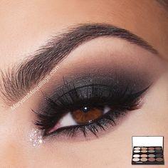 Dark Smokey #eye #eyes #makeup #eyeshadow #winged #dramatic #dark
