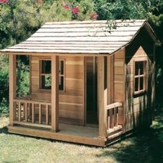 To sweet! I don't want to think of Ellie this age yet to play in this, but she'll have a great playhouse one day!