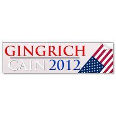 Gingrich/Cain 2012 bumper sticker