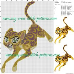 Fuli (the lion king) cross stitch pattern